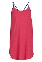 Roxy - Tropical Palm Sailor Dress Mid Pink