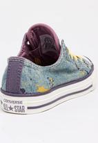 Converse - Chuck Taylor Loopholes Denim Splatter Slip  Sneak Pale Purple