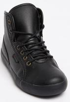 SUPERGA - PU High Top Sneaker Black