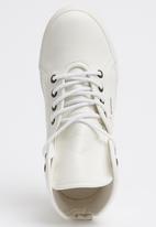 SUPERGA - PU High Top Sneaker White