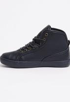 SUPERGA - PU High Top Sneaker Navy