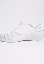 Candy's - Girls  Sandal With Kitten  Heel White