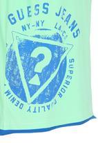 GUESS - Badge Tee Green
