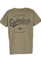 Quiksilver - Marching Band Tshirt Dark Green