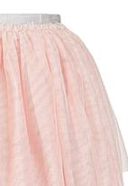 GUESS - Glitter Tulle Skirt Pale Pink