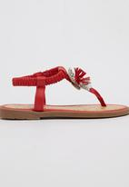 Rock & Co. - Sandal with Flower Detail Red