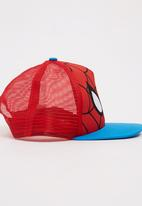 Character Fashion - Spiderman Flatbill Cap Red