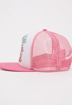 Character Fashion - Barbie Flatbill Cap Mid Pink