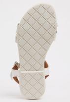 Footwork - Penny Flat Sandal White