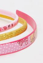 Character Fashion - Barbie Aliceband Set Multi-colour