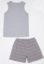 Rebel Republic - Vest and Short Pyjama Set Grey