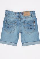 SOVIET - Denim Shorts Blue