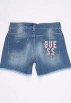 GUESS - High Waisted Short Mid Blue