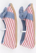 Myang - Nautical Stripe Open Toe Pump Multi-colour
