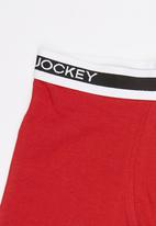 Jockey - 1 Pack Boys Pouch Trunk Dark Red