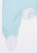 Poogy Bear - Polka Dot  Babygrow Mid Green