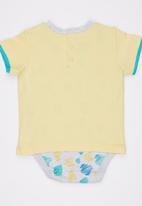Soobe - Printed Bodysuit Yellow