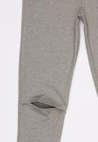 Rebel Republic - Knee Slit Ponti Legging Grey