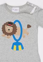 POP CANDY - Lion Tshirt Grey