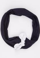 Myang - Denim  Headband With Bow Blue