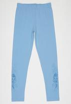 Soobe - Printed Leggings Pale Blue