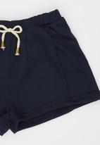 Rebel Republic - Fleece Shorts Navy