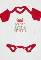 Funky Shop - Santas Little Princess Bodysuit White