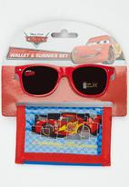 Character Fashion - Cars Sunglasses  And Wallet Set Red