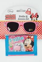 Character Fashion - Minnie Mouse Sunglasses  And Wallet Set Multi-colour