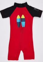 Sun Kids - Twin Fin Sun Suit Red