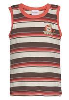 POP CANDY - Stripe Vest Orange
