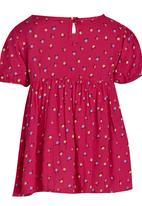 See-Saw - Puff Sleeve Top Dark Pink