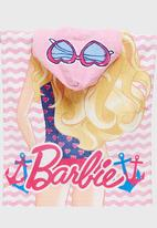 Character Fashion - Barbie Hooded  Towl Multi-colour