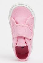 SUPERGA - Canvas Velcro Strap  Sneaker Mid Pink
