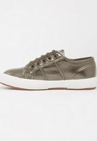 SUPERGA - Metalic Classic  Sneaker Dark Brown