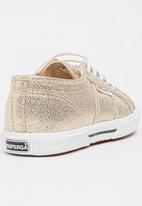 SUPERGA - Glitter Slim Sneaker Gold