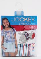 Jockey - 3 Pack Girls Print Transfer Plain  French Cut White