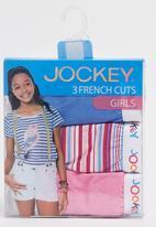 Jockey - 3 Pack Girls Plain French Cut Mid Blue