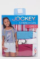 Jockey - 5 Pack Girls Print Transfer Plain With Replacement Mid Pink