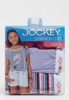 Jockey - 3 Pack Girls Plain French Cut Dark Purple