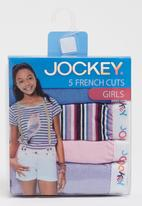 Jockey - 5 Pack Girls Print French Cut Dark Purple