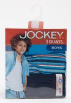 Jockey - 3 Pack Fancy Boys Skants Mid Blue