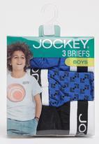Jockey - 3 Pack Fancy Boys Jockey Briefs Black