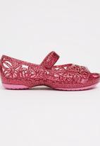 Crocs - Crocs Isabella Glitter Flat PS Mid Pink