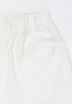 POP CANDY - Elasticated  Shorts White