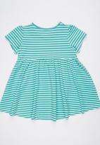 POP CANDY - Girls Printed Stripe  Dress Green
