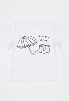 POP CANDY - Rainy Day Printed Tee White