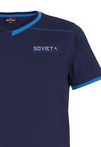 SOVIET - Blue V-Neck Tee Blue