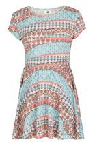Rebel Republic - Pleated Dress Multi-colour