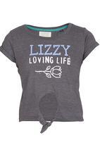 Lizzy - Valerie Top Grey